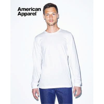 American Apparel Unisex Fine Jersey Long Sleeve Tee White